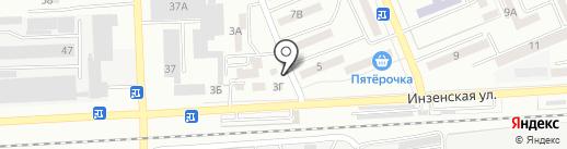 Олеся на карте Азова