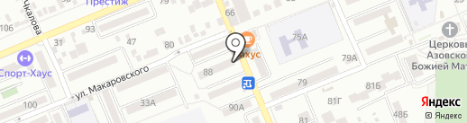Киоск по продаже печатной продукции на карте Азова