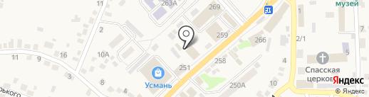 Мясной магазин на карте Новой Усмани