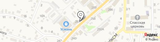 Ермолино на карте Новой Усмани