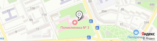 Поликлиника, Городская больница №1 на карте Азова