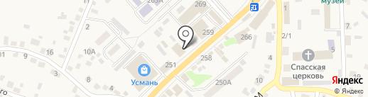 Киоск по продаже фруктов и овощей на карте Новой Усмани
