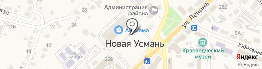 Магазин салютов и фейерверков на карте Новой Усмани