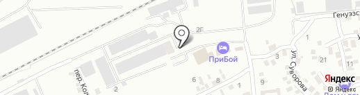 Прибой на карте Азова