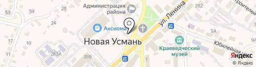 Магазин крепежных изделий на карте Новой Усмани