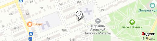 Адамант на карте Азова