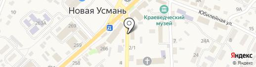 Агро-Белогорье на карте Новой Усмани