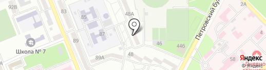 Петровское на карте Азова