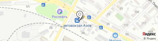 Галлея на карте Азова