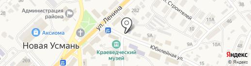 Детская школа искусств на карте Новой Усмани