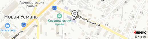 Диана на карте Новой Усмани