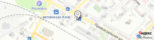 Банкомат, Юго-Западный банк Сбербанка России на карте Азова