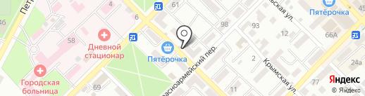 Пенное на карте Азова
