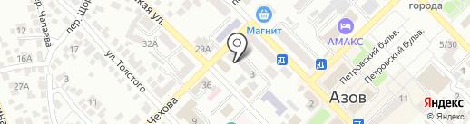 Элекснет на карте Азова