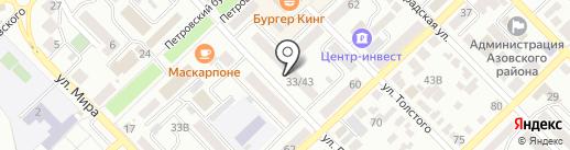 Зубастик на карте Азова