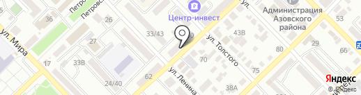 Юг-Инвестбанк на карте Азова