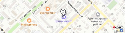 КБ Центр-инвест, ПАО на карте Азова