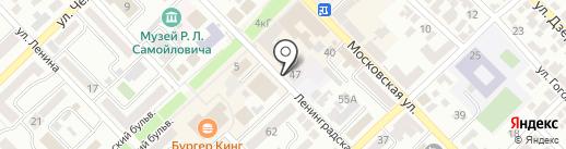 Сатис на карте Азова