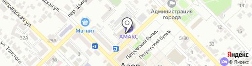 Банкомат, Мособлбанк, ПАО на карте Азова