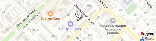 Новосел на карте Азова