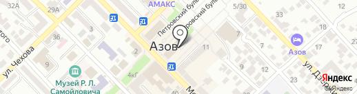 Звездочка на карте Азова