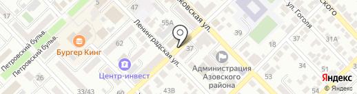 Отдел Военного комиссариата Ростовской области по г. Азов и Азовскому району на карте Азова