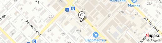 Славяна на карте Азова