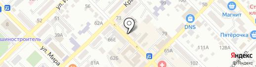 Аверс на карте Азова