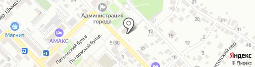 Солнечная на карте Азова