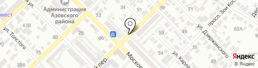 Есаул на карте Азова