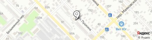 РостовАвтоДор, ГУП на карте Азова