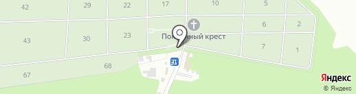 Косыревское кладбище на карте Косыревки