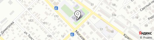 Средняя общеобразовательная школа №9 на карте Азова