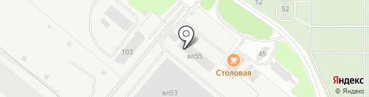 Новолит на карте Липецка