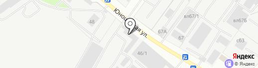 Автолиния на карте Липецка