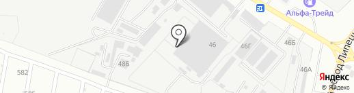 Зодчий на карте Липецка