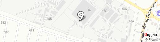Август-Мебель на карте Липецка