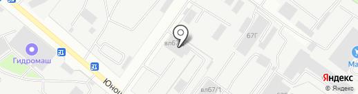 Автоцентр на Юношеской на карте Липецка