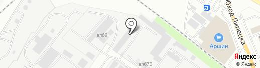 Транспортная компания на карте Липецка