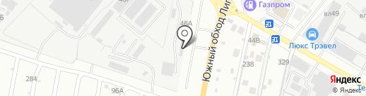 СТ-шина на карте Липецка
