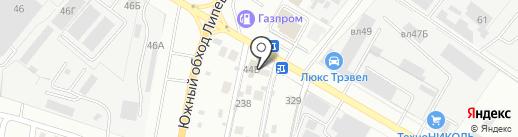 Ахтамар на карте Липецка