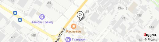 Шиномонтажная мастерская на Юношеской на карте Липецка