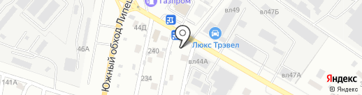 Бетон 48 на карте Липецка
