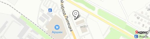 РНИТЦ на карте Липецка