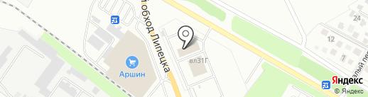 Ермак-Мастер на карте Липецка