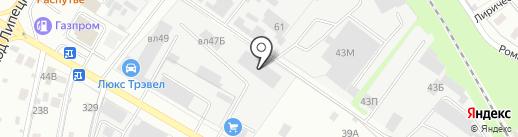 Липецкптицесервис на карте Липецка