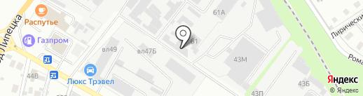 Авилс на карте Липецка