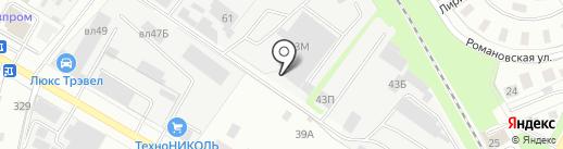 БАУС на карте Липецка