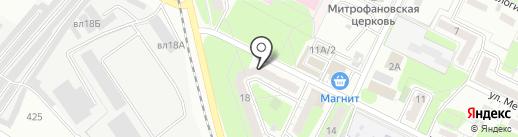 Непроспи на карте Липецка