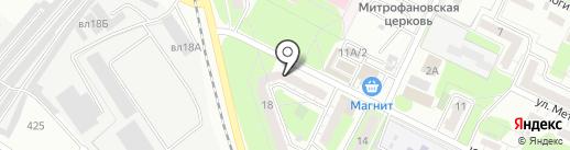 Пуговка на карте Липецка